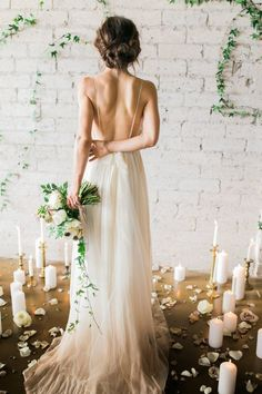 Silk Gauze Ombre Wedding Gown The Clementine by CleoandClementine