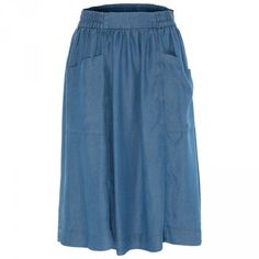 Poetry Langly Double Pocket Denim Skirt