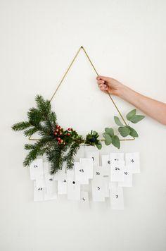 Minimalistischer DIY Adventskalender mit Messingrohre