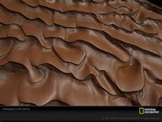 """colourparadise: """" Arizona Canyon Mud Photograph by Bill Hatcher Mud tracks ripple like melted chocolate after a flood washed through a slot canyon in Arizona. Looks like a brownie frosting haa """""""