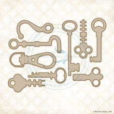 Blue Fern Studios - Chipboard - Hooks and Keys,$4.59