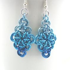 Chainmaille Ombre Earrings  Elizabeth by dancingleafstudios