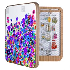 """Amy Sia Flower Fields Blue BlingBox   DENY Designs Home Accessories + 100 dollar discount with the code """"""""BLING299"""""""" today only"""