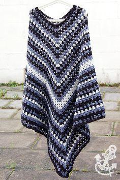 Men's Classic Poncho – Free Crochet Pattern