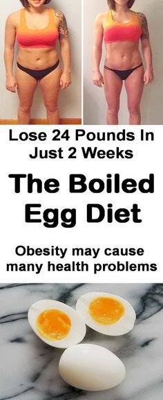Lose weight fast with boiled egg diet