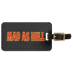 #MAD AS HELL BAG TAG - #travel #accessories
