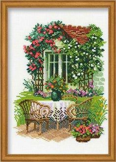 Мега-архив схемы вышивки крестиком Counted Cross Stitch Kits, Cross Stitch House, Embroidery Stitches, Ribbon Embroidery, Funny Cross Stitch Patterns, Cross Stitch Designs, Kreativ Hobby, Gobelin, Cross Stitch Landscape