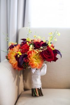 Fall Hued Wedding Bouquet