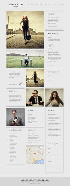 minimal, gray, simple, grid, layout