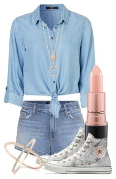 """""""Untitled #910"""" by bex-baxter ❤ liked on Polyvore featuring J Brand, Converse, MAC Cosmetics and Kate Spade"""