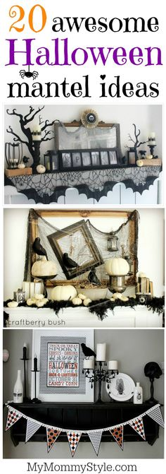 Halloween is coming soon. We are sharing with for you 15 Excellent Halloween Decoration ideas. Halloween Fireplace, Halloween Home Decor, Halloween 2018, Holidays Halloween, Spooky Halloween, Halloween Crafts, Happy Halloween, Halloween Decorations, Halloween Party