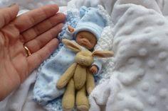 "~*~ Ooak 4.5"" Partial Sculpt Newborn Baby Boy * MICHAEL* One Day ~*~ Peek In~*~"