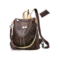 Scarleton Small Multi Pocket Crossbody Bag for Women, Ultra Soft Washed Vegan Leather Shoulder Purse, Brown, – The Fashion Mart Sling Backpack Purse, Leather Backpack Purse, Small Crossbody Bag, Leather Purses, Leather Totes, Mini Backpack, Summer Tote Bags, Straw Handbags, Shoulder Bags For School