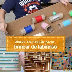 Dicas de como fazer labirintos caseiros usando diferentes materiais disponíveis na sua casa.