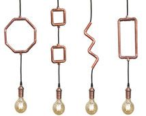 copper pipe lighting - Google Search
