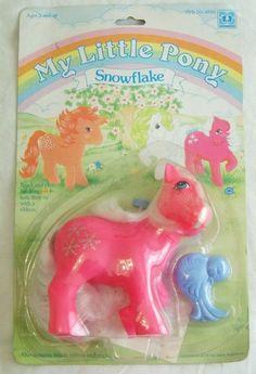 My Little Pony G1 European Exclusive MOC Snowflake VHTF!