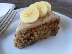 Banana Nut Cake with Brown Sugar Almond Frosting - Vegan