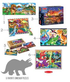 DINO FUN!  {Awesome Dinosaur Books & Puzzles} *Plus 7 tips for studying dinosaurs... #dinosaurs