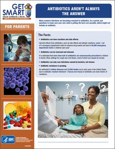 Antibiotics aren't always the answer to your sick child. Many common infections are becoming resistant to antibiotics. As a parent, ask your provider what the best care is for your child, which might not include an antibiotic.