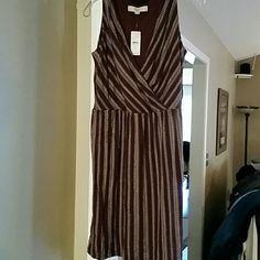 Loft dress size xs Maroon and white LOFT Dresses