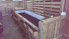 Raised bed #pallet #garden I built  this spring 2016 #freecycleproject