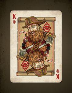 Steampunk Pirates Bicycle Playing Cards - Printed by USPCC by Nat Iwata — Kickstarter