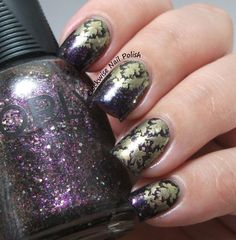 The Clockwise Nail Polish: Orly Digital Glitter Review & BBF 07 stamping plate