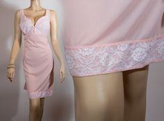 Pink Perlon1960s vintage full slip PL303 via Etsy