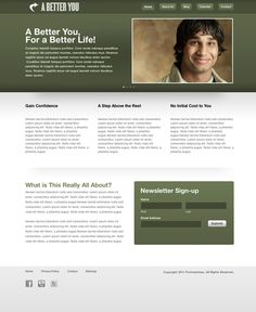 FREE Modern Forest Green Style Website Template by: testamentdesign.com