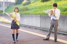 "Kasumi Arimura x Sota Fukushi, BTS photo, J live-action movie of manga ""Strobe Edge"". Release: March 14th 2015"
