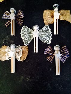Clothespin Christmas Angels--use as ornament and attach at the end of branch