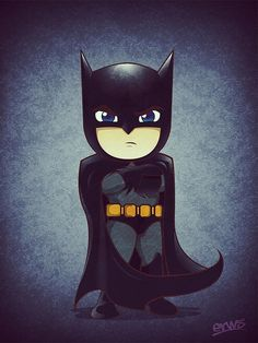 Shrunken Batman by Martin Erws