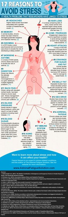 17 Reasons To Avoid Stress (Infographic) http://www.onedoterracommunity.com https://www.facebook.com/#!/OneDoterraCommunity