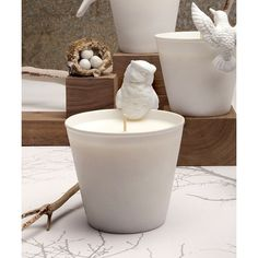 Mine Design Aviary Owl Candle - Belle ($40) found on Polyvore featuring home, home decor, candles & candleholders, mine design candles, owl candle, owl home accessories, scented candles and fragrance candles