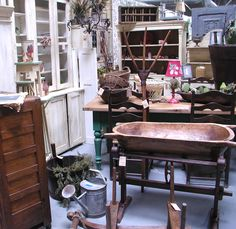 """European antique section at """"Granny's Attic"""" in Old Town Temecula Ca."""