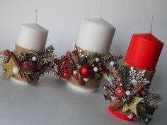 Декор новогодних свечей. Новогодний декор. Подарок своими руками.