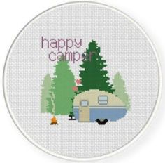 This cute little teardrop camper is a freebie available over on Craftsy.com. Fun little project to stitch up while you dream of sunshine and wait for the perfect camping weather to return... Grab t...