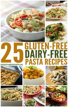 Making delicious Pasta Recipes when you cannot eat gluten or dairy seems like a daunting task. BUT we have put together 25 Gluten-Free Dairy-Free Pasta recipes that you are going to love and find … Lactose Free Recipes, Egg Free Recipes, Dairy Free Diet, Allergy Free Recipes, Dairy Free Recipes For Kids, Dishes Recipes, Pasta Sin Gluten, Gluten Free Pasta, Gluten Free Cooking