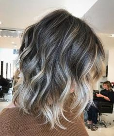 You should so do this Louise. Would look beautiful - - balayage ombre hair. You should so do this Louise. Would look beautiful How to Use Dry Shampoo Dry Shampoo Tips DIY Tutorial Best Hig. Brunette Color, Ombre Hair Color, Hair Color Balayage, Cool Hair Color, Hair Highlights, Gray Balayage, Color Highlights, Ombre Hair Bob, Short Hair Colors