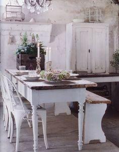 Vintage, Landhausstil, Esszimmer, Shabby Chic, französiches Landhaus, Farmhouse, Cottage Style