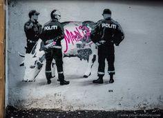 Work by AFK Urban Life, Bergen, Public Art, Street Photography, Darth Vader, Artwork, Fictional Characters, Politics, Walls