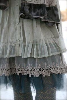 lace + tulle+velvet+wool+cotton