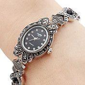 aliaj de cuarț ceas brățară analog femei (neg... – GBP £ 8.76