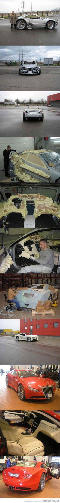 Renovating a car like a boss…