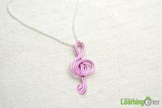 Learn how to design your own pendant with our free wire jewelry making tutorial. Within several minutes you are able to make a wearable necklace decorated with a musical note pendant!