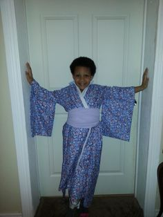 handmade this kimono for my daughter! only cost me $6.00 to make
