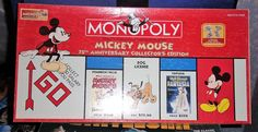MICKEY MOUSE MONOPOLY 75TH COLLECTORS EDITION 2004   (m) #ParkerBrothers