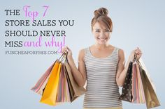 The top 7 store sales you should never miss, plus tons of shopping insider secrets! From FunCheapOrFree.com