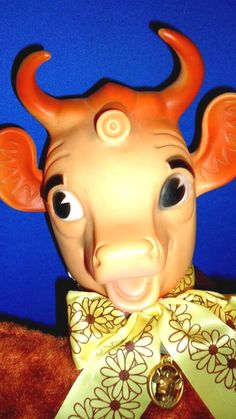 1950s Borden ELSIE THE COW Large 14 Brown Plush by embrace123