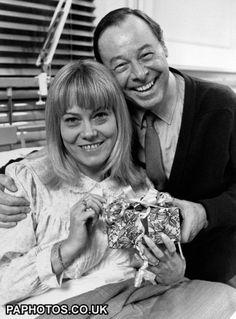 Eastenders - London - 1989 Pauline Fowler (actress Wendy Richard) is visited in hospital by tv husband Arthur (actor Bill Treacher)